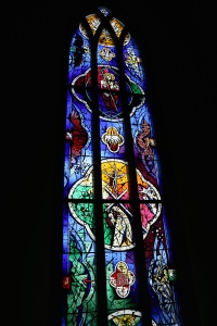 One of the windows inside the cathedral in Reykjavik