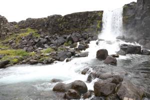 Waterfall at Þingvellir site