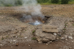 Litl Geysir, not the main event