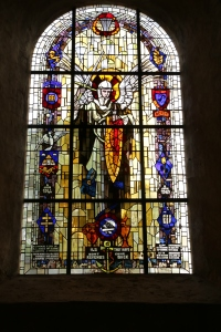 This window was added to the church by some of the surviving paratroopers who returned to the town in later years.
