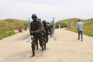 This memorial at Utah commemorates the Higgins Boats, which were used for the landing. Originally used during Prohibition in Louisiana to smuggle booze into the bayou, the Coast Guard made great use of them in WW2.