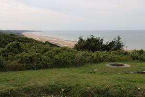 Omaha Beach from the cliff above.