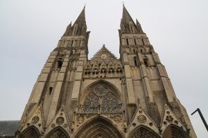 Front of Bayeux Cathedral