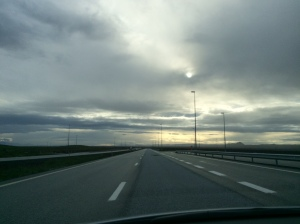 Dramatic view from the road
