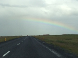 Rainbow on the way back to the airport