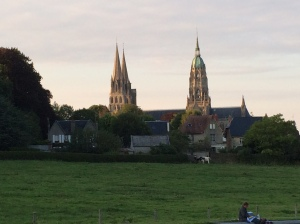 Bayeux Cathedral at sunset