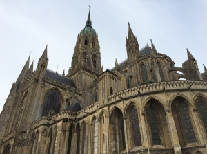 The full view of Bayeux Cathedral