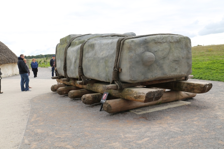 This reproduction is the best guess for how the Sarsen stones were moved.