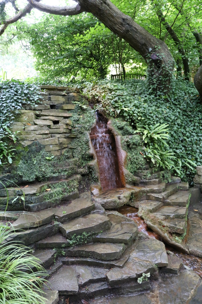 Chalice Wells is in Glastonbury and is associated with the Holy Grail. The waters here have a high iron content, so they turn anything they touch red. This led villagers to conclude this spring is tied to the blood of Christ.