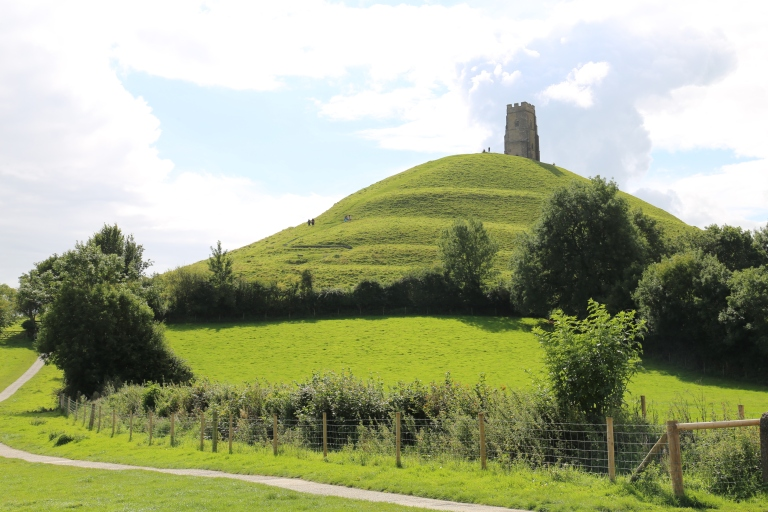 Glastonbury Tor is the legendary location of the abbey at Glastonbury. Only this tower from St. Michaels Church remains today.