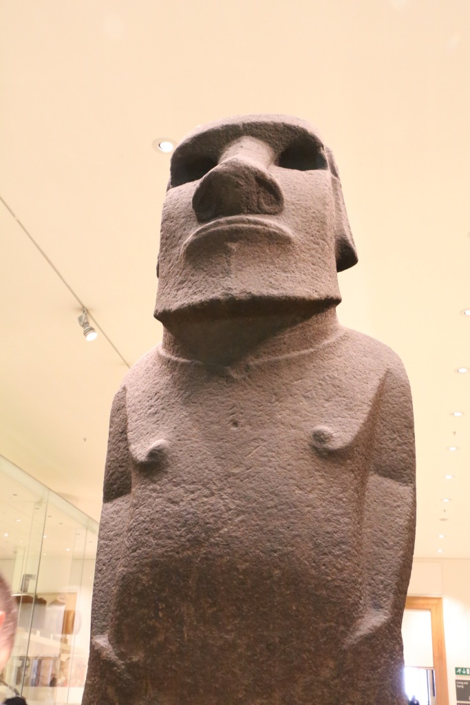 One of the Easter Island statues, Hoa Hakananai'a, from 1400.