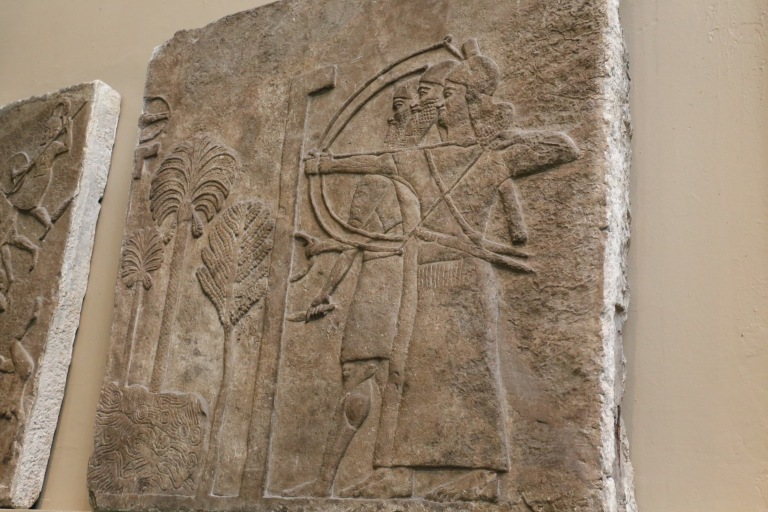 Detail of a relief, also from Ninevah.