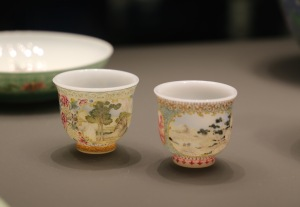 Enamelled glass wine cups from the Forbidden City, Beijing, AD 1736-95