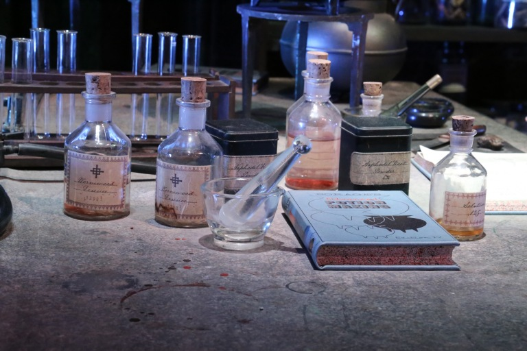 A detail from the Potions classroom.