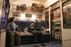 Harry and Ron chilling in the Hogwarts Express.