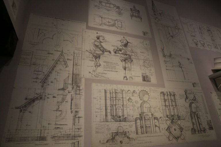 Architectural drawings for many of the sets, creatures and other props.