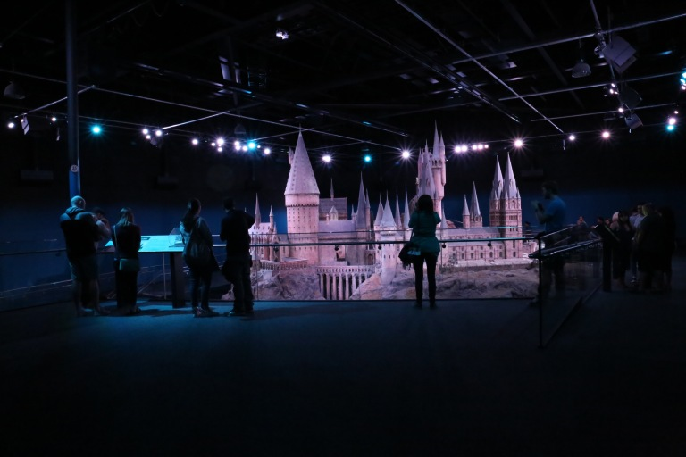 Hogwarts Castle - this massive model took 7 months and 40 people to build. It was used for all of the exterior shots of the castle in all 8 movies.