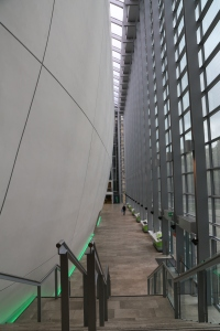 This is the Cocoon in the Darwin Center of the Natural History Museum