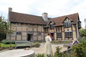 The exterior of Shakespeare's birthplace.
