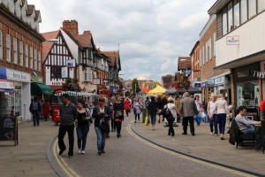 One of the streets in Stratford - they all have this beautiful Tudor architecture and windy quality.