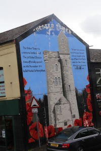 Mural on the Shankill Rd commemorating losses during World War 1.