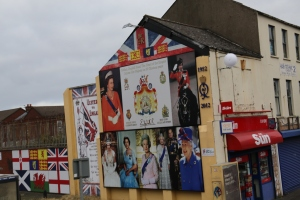 Mural commemorating Queen Elizabeth I on the Shankill Rd.