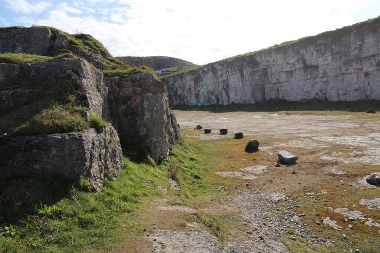 This car park in Larrybane was the site for Renly's camp in season 2. It overlooks the cliff-edged water.