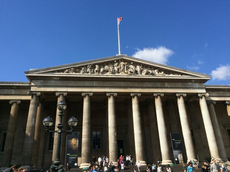 The exterior of the British Museum