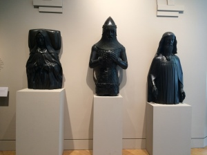 Three electrotypes of effigies: Lady Margaret Beaufort (Henry VII's mother), Edward, the Black Prince (of Wales), King Edward III, all by Elkington & Co.