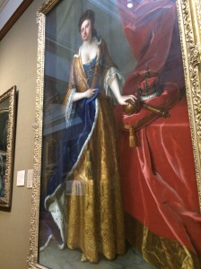 Queen Anne I by Michael Dahl. Anne was the last of the Stuart monarchs - none of her 18 children lived to succeed her.