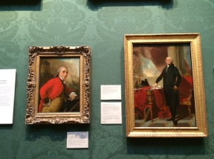L-R: Charles Cornwallis, 1st Marquess of Cornwallis by Thomas Gainsborough and George Washington after Gilbert Stuart. The placement of these two paintings made me laugh out loud - Cornwallis is so much smaller than Washington. Wonder what we'd see here if we hadn't won the Revolution.