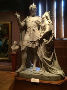 This rather bizarre sculpture by William Theed is of Prince Albert and Queen Victoria. They are wearing traditional Anglo-Saxon outfits to emphasize their German heritage. Bet they had to throw a blanket over this one about 20 years later.