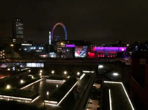 The London Eye from the National Theatre balcony