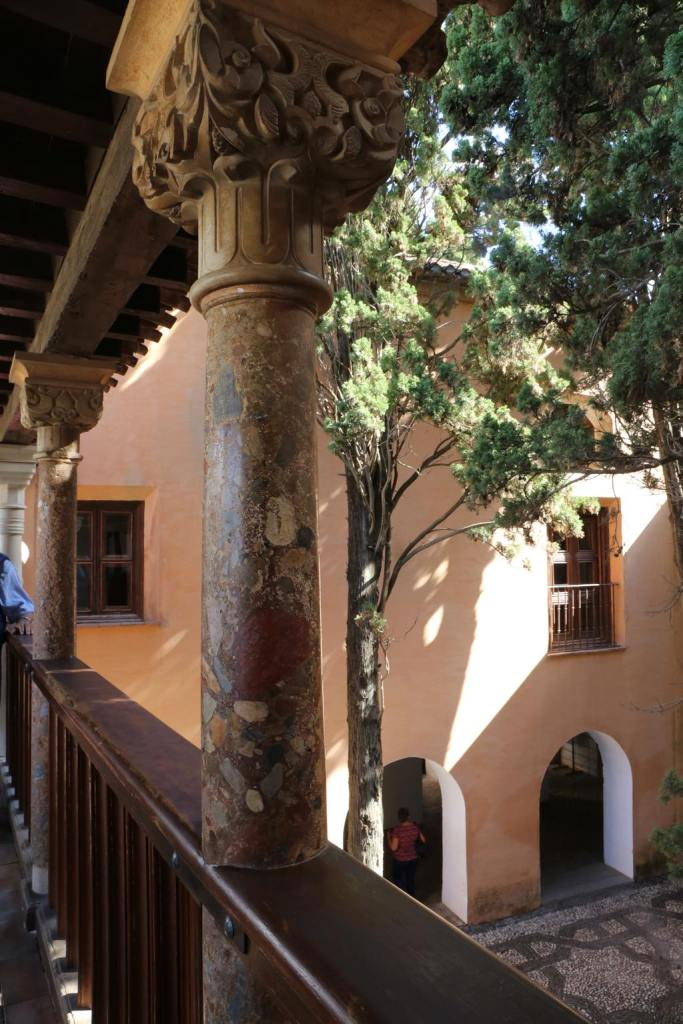 One of the balconies in the Alhambra
