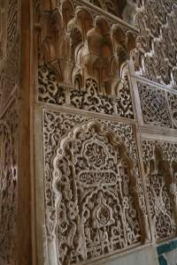 The carvings are done in plaster - it's kind of amazing they're in such good condition.