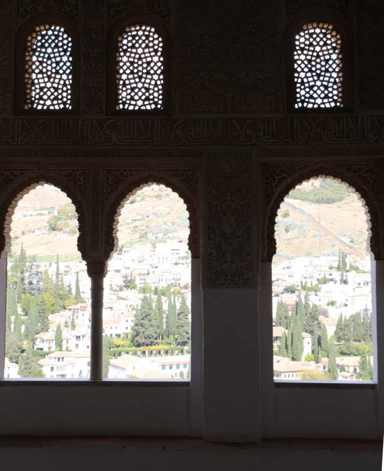 From these windows you can see Granada and the Sierra Nevada mountains