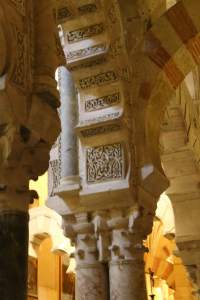 Detail at the top of one of the columns