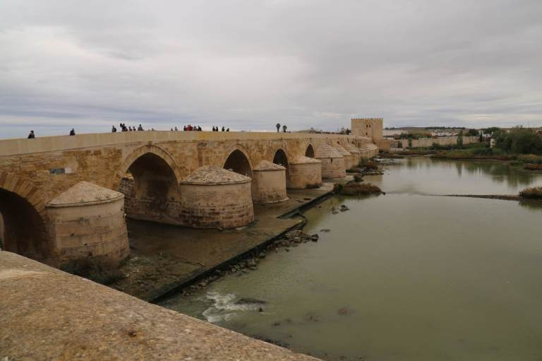 Roman bridge over the Guadalquivir River
