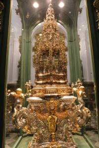 Altar piece made from gold and silver from the Americas