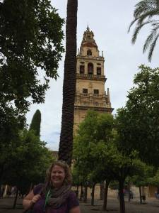 In the Court of Oranges with the Bell Tower/minaret in the background