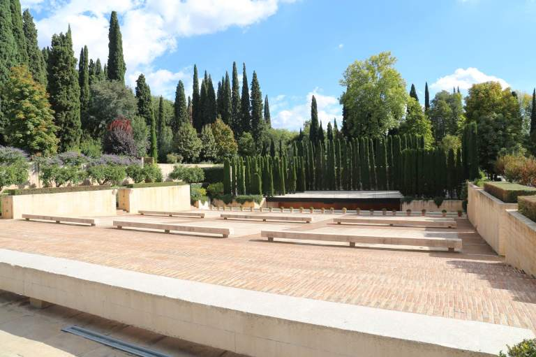 An outdoor amphitheater was recently added for events