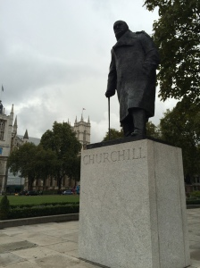 Churchill Statue outside the Houses of Parliament