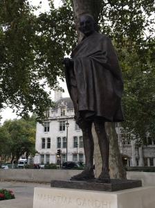 Ghandi statue outside Westminster Abbey