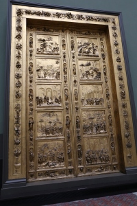 Cast of The Gates of Paradise by Lorenzo Ghiberti for the Baptistry of the Florence Cathedral.