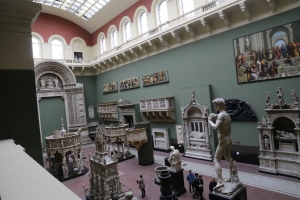 View of one of the Cast Court rooms from the atrium