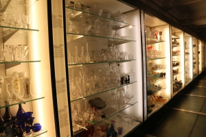 Part of the collection in the Glass Rooms