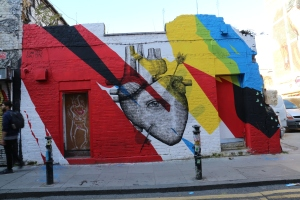 Two artists did this mural - Elian Chali and Alexis Diaz.