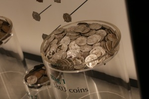 These are only some of the coins found in a giant hoard fairly recently - they could have been a family's savings, tucked under the floor of their house.