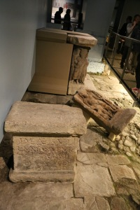 The remains of the altar at the Sulis Minerva temple