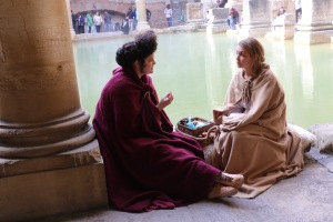 The Baths are home to reenactors who chat with you about what life would have been like for the Romans